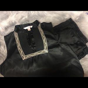 Victoria Secret Angel Satan Pajama Set-Black